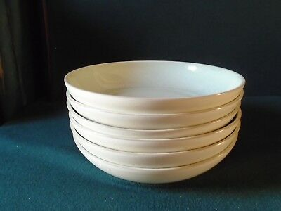 Three Denby Energy 'Celadon and Cream/White' pasta bowls
