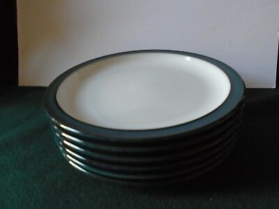 "Three Denby Greenwich tea plates 6 3/4"" ( 16.5cms) diameter"