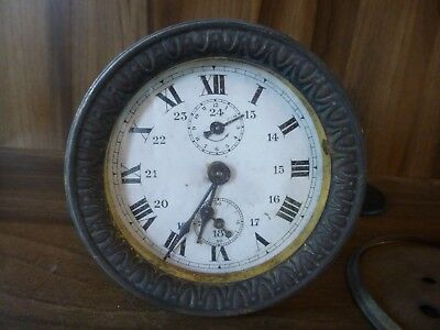 Antique French Bronze Clock Movement with Alarm