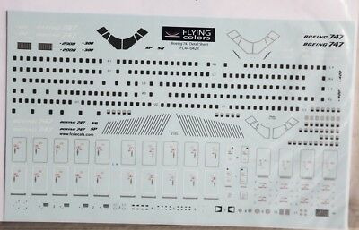 1/144 Flying Colors Boeing 747 Detail Sheet