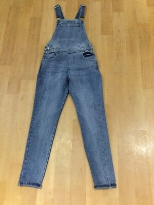"New Girls Blue Denim Full Length Dungarees Age 11 L25"" ~ Matalan"