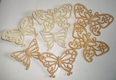 Vintage Lot of 7 Butterfly Wall Hangings 1978 Homco Plaques