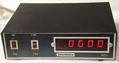 Vintage Siltronix FC-1 Digital In Line Frequency Counter Ham Radio AS IS PARTS .