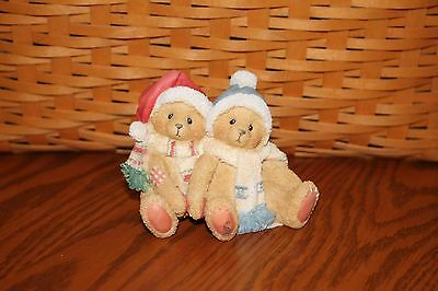 Cherished Teddies Figurine Jamie and Ashley Christmas