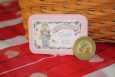 Precious Moments Collectors Club Pin I Can't Bear To Let You Go plus Ouch Kit
