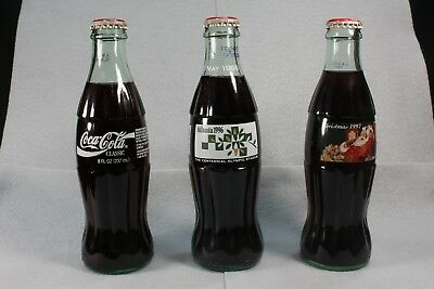 COLLECTIBLE COCA-COLA BOTTLES 1993-1999 3 Bottle Lot
