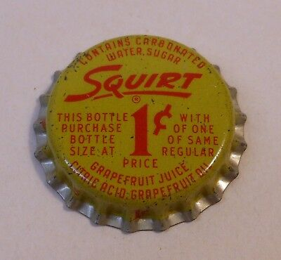Vintage Squirt 1 Cent..cork..unused..SODA BOTTLE CAP