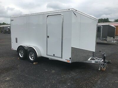 7'x 14' V NOSE ALL ALUMINUM ENCLOSED MOTORCYCLE, SIDE BY SIDE, UTILITY,GO-KART