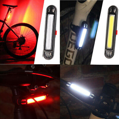 1×USB Rechargeable Bike LED Tail Light Bicycle Safety Cycling Warning Rear Lamp
