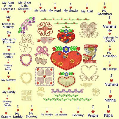 Hearts & Flowers Machine Embroidery Design CD-Anemone Embroidery