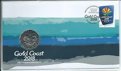 2018 50c Gold Coast Commonwealth Games  Limited Edition PNC