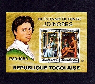 Togo - 1980 - Ingres - Artist - Paintings - Mint - Mnh S/sheet!