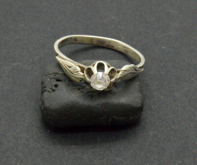 Antiquarian Silver Ring with rock-crystal gemstone. 20 Century