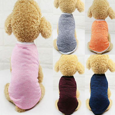 Summer Pet Thin Vest Small Large Dog Cat T-shirt Clothes Puppy Costumes Outfit