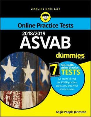 2018/2019 Asvab for Dummies With Online Practice by Angie Papple Johnston Paperb