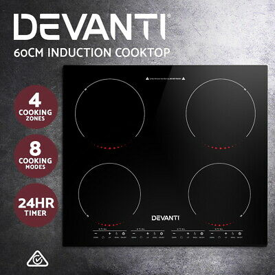 5 Star Chef Electric Induction Cooktop Kitchen Cooker Ceramic Cook Top 4 Burner