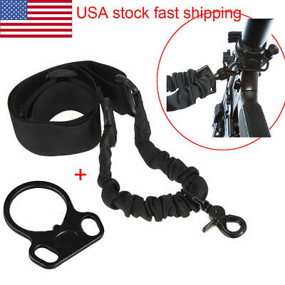 One Single Point Sling for 2AR Rifle Gun W/ Dual Plate Mount Adapter US Tactical