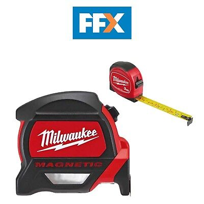 Milwaukee 4932464179 8m/26ft Premium Magnetic Tape Measure with 3m Mini Tape