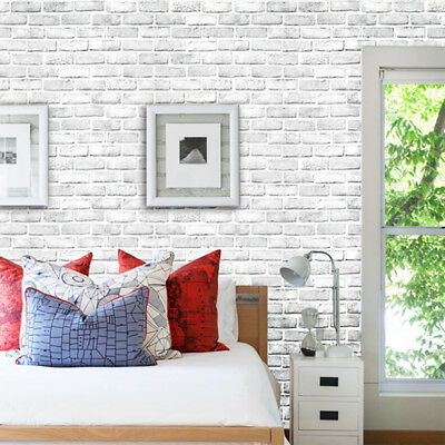 3D Brick Stone Rustic Effect Self-adhesive Wall Sticker Home Bedroom DIY Decor