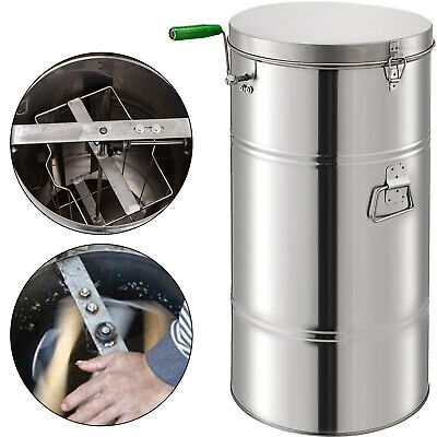 Two 2/4 Frame Honey Extractor Stainless Steel Beekeeping Equipment Durable