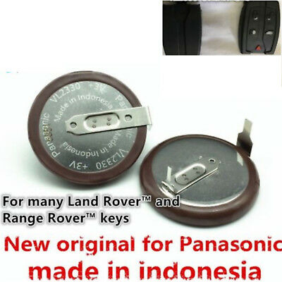2PCS Panasonic Button VL2330 Battery key fob 3V 50mAh For Land Rover Range Rover
