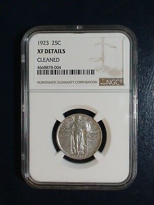 1923 Standing Liberty Quarter NGC XF 25C Coin Auction Start At 99 Cents!