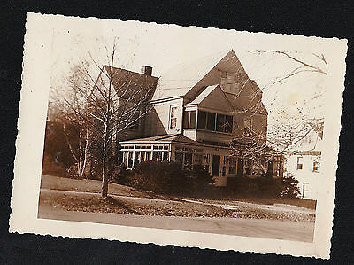 Vintage Antique Photograph Beautiful Victorian Country Home / House