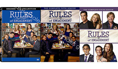 Rules of Engagement TV Series Complete Season 1-6 1 2 3 4 5 6 NEW DVD BOX SETS