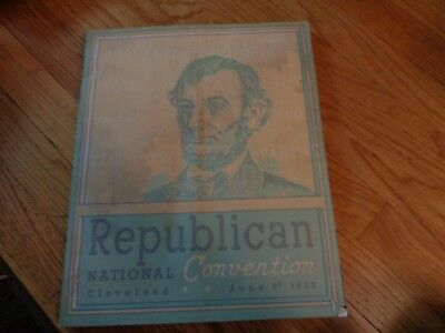 1936 Republican National Convention Program Book Cleveland with Box