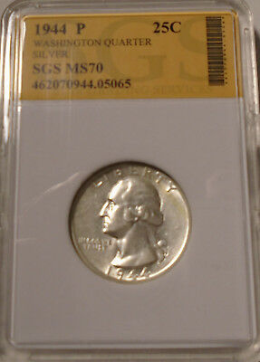 1944 p 90 % Silver Brilliant Uncirculated Washington Quarter See Pictures #05065