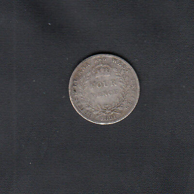 1891 British Guyana Silver Four Pence