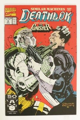 ESZ6915. DEATHLOK #6 Marvel Comics 8.0 VF (1991) Versus The PUNISHER '