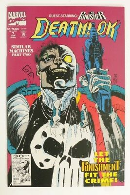 ESZ6916. DEATHLOK #7 Marvel Comics 8.0 VF (1991) Versus The PUNISHER '