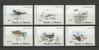Tiere, Animals, Vögel, Birds - Malediven - 883-888 ** MNH 1980
