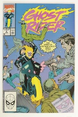 ESZ6987. GHOST RIDER VOL 2 #2 From Marvel Comics 9.2 NM- (1990) Copper Age (M)