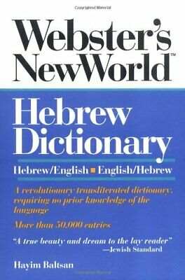 Webster's New World Hebrew/English Dictionary by Baltsan, Hayim Paperback Book