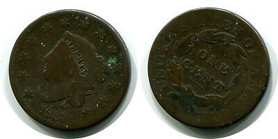 1833 Large Cent Liberty Coronet Penny Coin