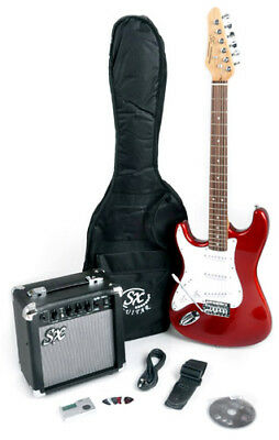 SX RST CAR Left Handed Electric Guitar Package Full Size w/Amp, Bag & Video