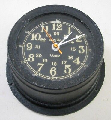Vintage Seth Thomas Quartz Seasprite Ii Boat Ship Clock