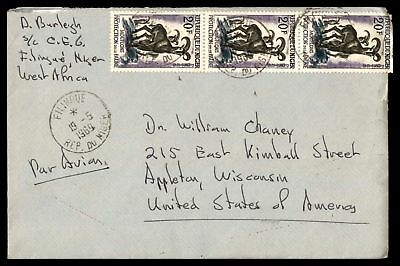 Filingue May 19 1969 Air Mail Cover To Appleton Wi Usa With Letter Inside