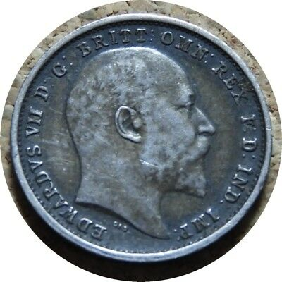 elf  Great Britain 4 Pence 1903 Silver  Edward VII   Maundy