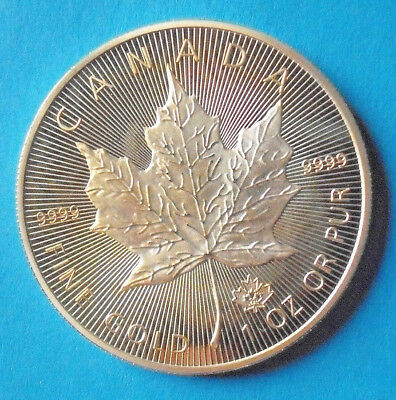 50 Dollar Kanada Maple Leaf 2015 Goldauflage Medaille-Copy 44 mm