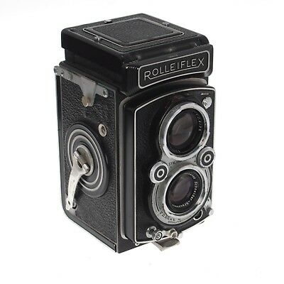 Rolleiflex DBP With Xenar 75mm f/3.5 Case Filter Set As-Is Mold