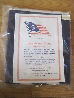 Bennington Flag New in Package from Metropolitan Flag Manufacturing Corp 3' x 5'