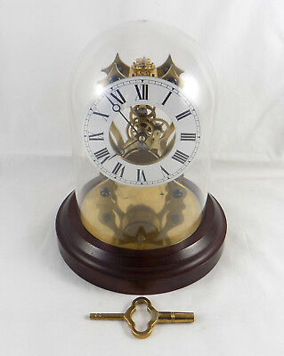 High Quality Domed Skeleton Clock With Platform Balance - Perfect Working Order