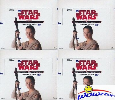 (4) 2017 Topps Journey to Star Wars: The Last Jedi MASSIVE 24 Pack Retail Boxes