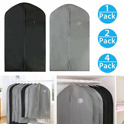 1 2 4Pcs 40inch Garment Bag for Suit Dress Storage Black Gray Transparent ef327df82c680