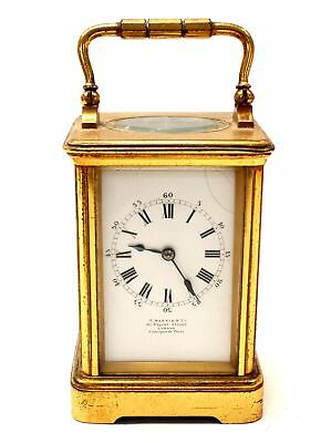 Vintage T. MARTIN & CO Brass Carriage Clock With Key  - F14