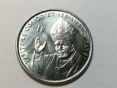REPUBLIC OF CONGO 2004 1 Franc coin Pope's visit 1 Franc coin proof
