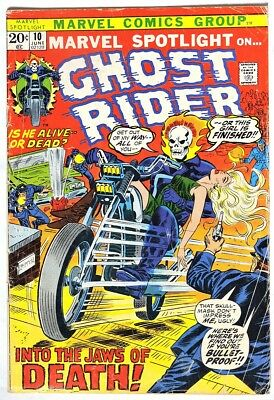 S962. MARVEL SPOTLIGHT #10 by Marvel (1973) Early Appearance of GHOST RIDER `